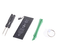 1560mAh 3.8 V Li-ion Battery Replacement for iPhone 5S with Pry Tools - Black