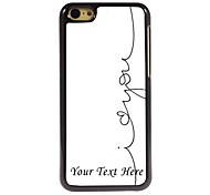Personalized Phone Case - I Love You Design Metal Case for iPhone 5C