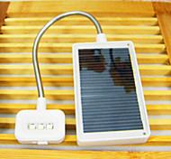 5W 3-LED Reading Light USB Solar Energy 220V