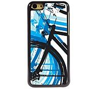 caso duro del patrón de la bicicleta de aluminio para 5c iphone