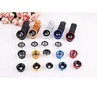 "5in1 Fish Eye+2X Wide Angle+Macro Lens Kit Polarizer for iPhone 6 4.4""/5.5"" Nexus 4 HTC Samsung Sony etc."