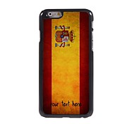 "Personalized Case Spanish Flag Design Metal Case for iPhone 6 (4.7"")"