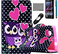 COCO FUN® Dots Owl Family Pattern PU Leather Case  for Sony Z3 mini
