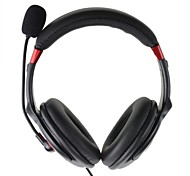 Stylish USB 2.0 Stereo Headset Headphone with Microphone / Speaker (Black)