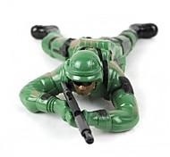 fraîche en plastique combattants jungle jouet - vert armée (2 x AA)