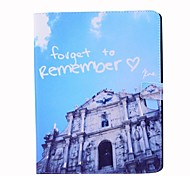 Ancient Building Pattern PU Wallet Leather Case with Stand for iPad 2/3/4