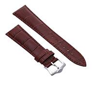 22mm Unisex Genuine Leather Watch Band Strap Bracelet Dark Brown Fashion