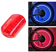 FJQXZ Waterproof Red Cycling Warning Tail Light and 1 Pair Safety Valve Lamp Set