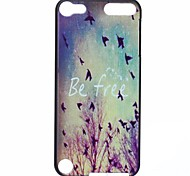 Be Free Pattern PC Hard Case for iPod Touch 5