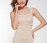 Sommer Shapewear ohne Knochen Abdomenzeichnungs Push-ups Brust Schlankheitskörperformer Weste beige Farbe Größe XL und XXL