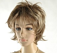 Women's Fashion Straight Short Dark Brown Fluffy Wig