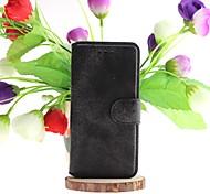 скраб сплошной цвет полные случаи тела футляр из натуральной кожи со слотом для карты для iphone 6с плюс / 6 плюс (ассорти цветов)