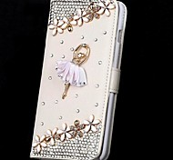 Fashion Dancer Full Body Case With Stand and Rhinestone for iPhone 6 Plus