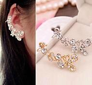 diamante borboleta flash de algemas de orelha