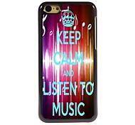 Listen To Music Design  Aluminum Case for iPhone 5C