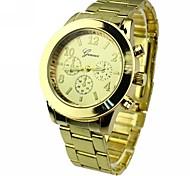 Women's Round Dial Alloy Band Quartz Bracelet Watch (Assorted Colors)