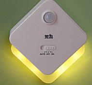 Xuanpin 4Led Yellow/White Light Human Body Induction Lamp(White)