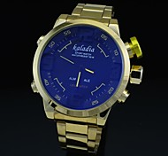 Men's Watch Mutlifunctional Analog Digital Dress Wrist Watch Waterproof Men Full Steel Golden Watch (Assorted Colors)