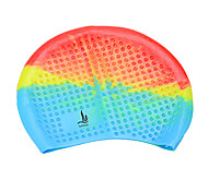 Sanqi Unisex Fashional Colorful Comfotable Wearable Waterproof Ear Protection Swimming Cap