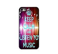 Listen To Music Design  Aluminum Case for iPhone 5/5S
