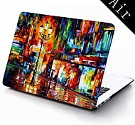 Oil Painting The Street Design Full-Body Protective Plastic Case for 11-inch/13-inch New Mac Book Air