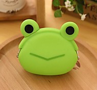 Frog Pattern Silicone Change Purse