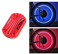 FJQXZ Red Waterproof Cycling Warning Tail Light and 1 Pair Safety Valve Lamp Set