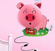 Huayan® Cartoon Pink Pig 3D Wallpaper 25W LED Wall Lamp 220V