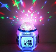 New Fashion Children Room Amazing Sky Star Night Light Projector Lamp Bedroom Alarm Clock Music Clock