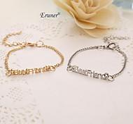 "Eruner® New Fashion Jewelry ""best friend"" Letter Charm Bracelet For Women Ladies Wholeslae inspirational bracelets"