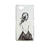 Fashion Painted Cartoon Series Drawing Back PC Back Cover for Sony Xperia Z1 mini