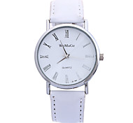 Female Male Models Candy Color Fashion Simple Circular Belt Chinese Movement Watch(Assorted Colors)