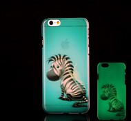 Zebra Pattern Glow in the Dark Hard Case for iPhone 6 Plus