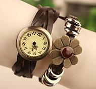 - Analog - Blume - Armband-Uhr