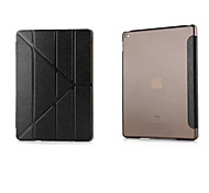 Silkworm Silk Pattern Multi-Fold Solid Solid Color PU Leather Smart Covers/Folio Cases/Origami Cases for iPad Air 2/Air