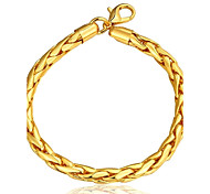 Generous Simple Women's  Twistedstring Gold Plated Brass Chain & Link Bracelet(Golden)(1Pc)