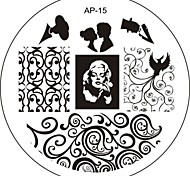 Nail Art Stamp Stamping Image Template Plate AP Series NO.15