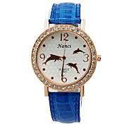 Relógio Pingente - Mulher - Quartzo - Analógico - Leopardo