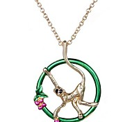 2015 Monkeys Picked Peach Circles Are Juggling Necklace