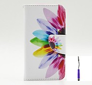 Beautiful Petals Pattern PU Leather Case Cover with A Touch Pen ,Stand and Card Holder for LG G3 Mini