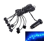 Car Interior 10-LED Blue Light Decorative Lights