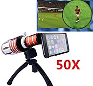 Apexel Telescope 50X Zoom Telephoto Manual Focus Long Focal Camera Lens for iPhone 6 Plus with Back Cover and Tripod