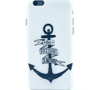 The Black Ship Nail Pattern TPU Soft Cover for iPhone 6