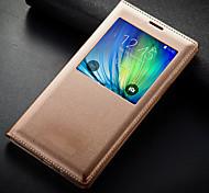Samsung Handy - Samsung Samsung Galaxy S6 - Hüllen (Full Body) - Einfarbig (Schwarz/Weiß/Blau/Rosa/Rosé/Gold , PU Leder)