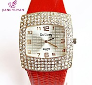 Women Rhinestone Watch Fashion Casual Sports Sale Ladies Wristwatches Quartz Leather Strap Watch(Assorted Colors) Cool Watches Unique Watches