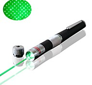 OXLasers OX-G005S Pen Stytle Star Cap Green Laser Pointer (5mw, 532nm, 2*AAA Batteries, Black)
