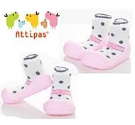 Attipas Super Lightweight Baby Girls Infant Shoes Anti-slide First Walker Ballet Pink Polka Dot Toddler Shoes