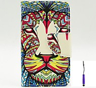The King of The Forest Pattern PU Leather Case Cover with A Touch Pen ,Stand and Card Holder for Nokia Lumia 530