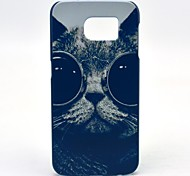 Sunglass Cat Pattern Hard Case Cover for Samsung Galaxy S6