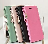 iPhone 6 Plus - Gehäuse mit Kickständer/Cover-Rückseite/Handschlaufe/Splitterfestes Gehäuse/Portemonnaie-Hülle - Einfarbig/Leder/Niedliches Motiv (